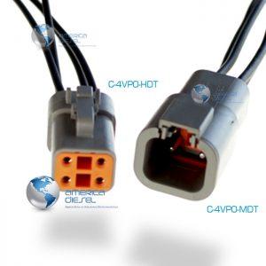 4-way Socket Power Connector