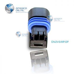 2 Way MP Black connector