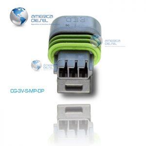 3 way MP gray connector