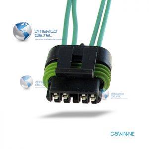 5-Way MP Black Injector connector