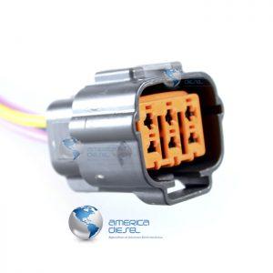 6 Way ISX EGR Orange Connector